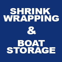 Shrink wrapping boat storage